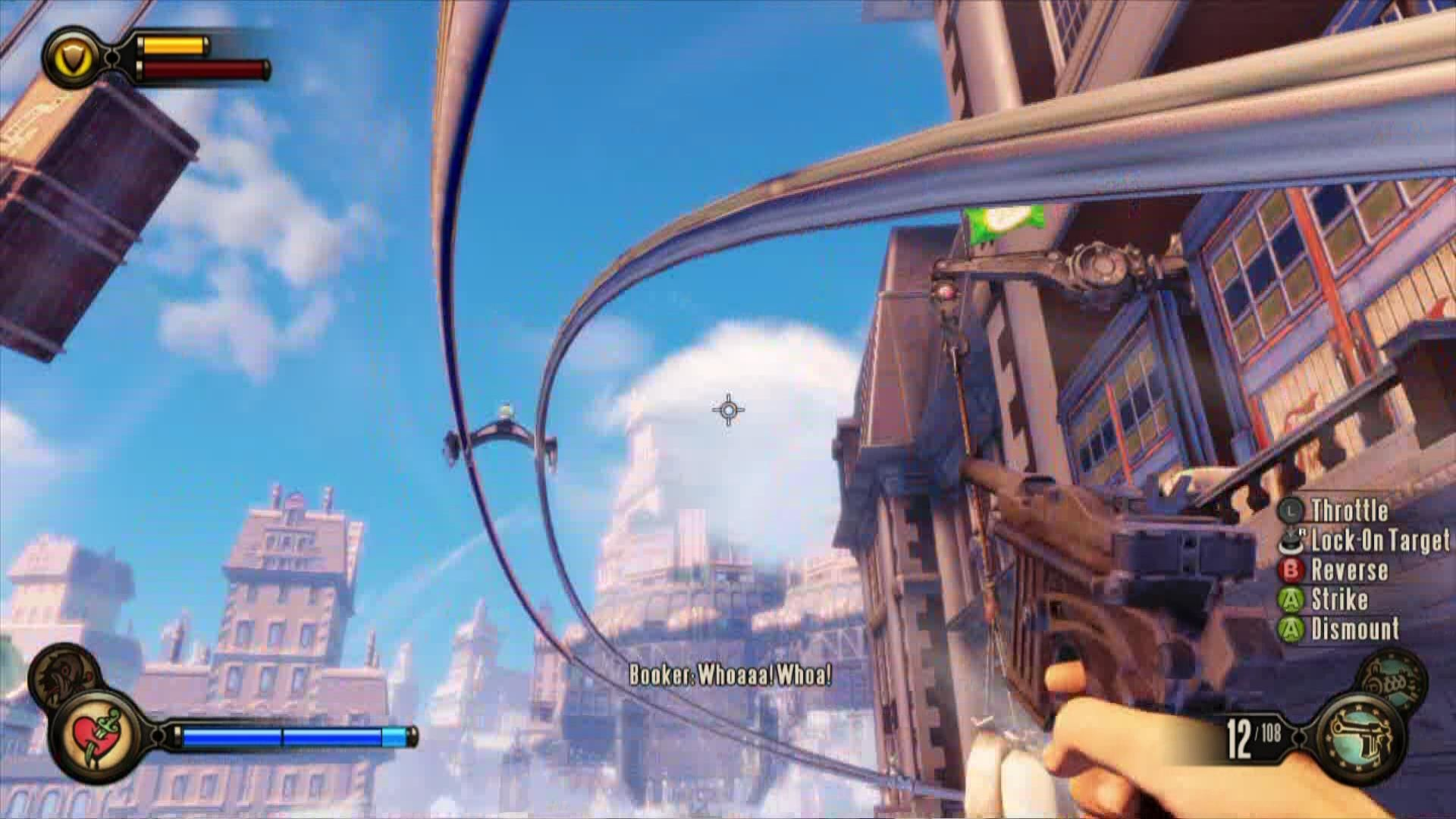 BioShock Infinite Xbox 360 Use the Sky-Line to travel around.