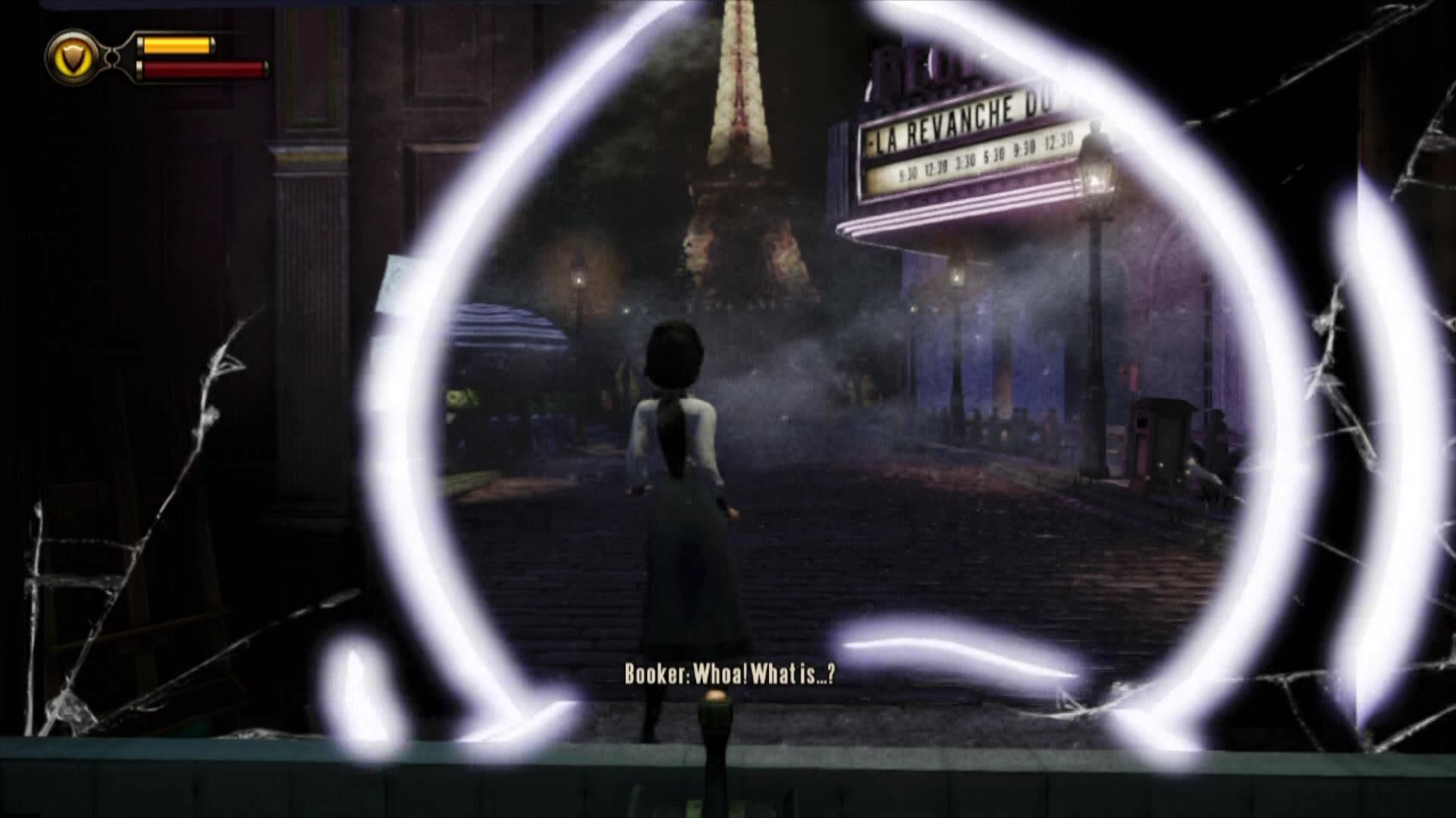 "BioShock Infinite Xbox 360 Elizabeth can tear open ""windows"" to other locations."