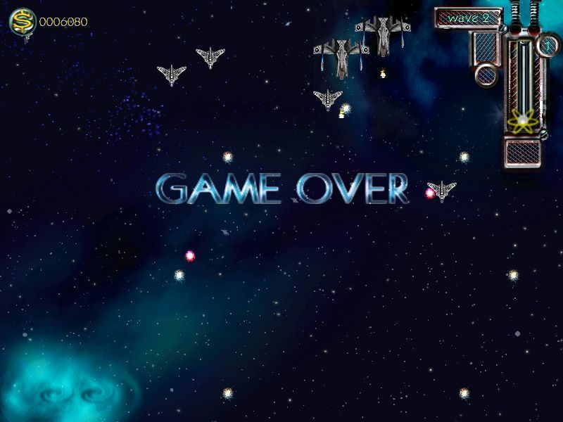 Alien Outbreak 2: Invasion Windows Game Over! Be prepared to see this screen many times because this game is long and challenging.