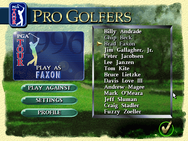 PGA Tour 96 DOS Golfers choice