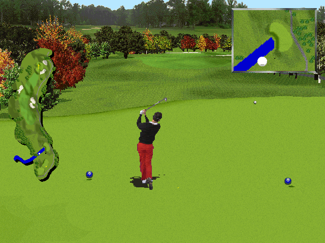 PGA Tour 96 DOS Ball in flight