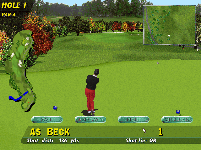 PGA Tour 96 DOS Shot options