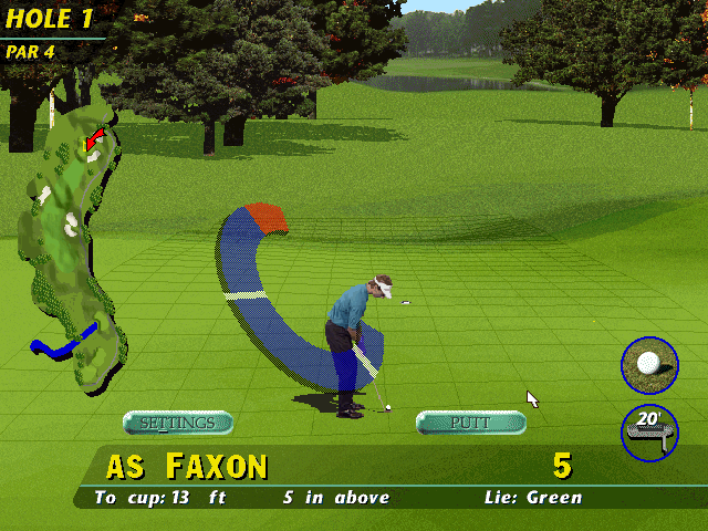 PGA Tour 96 DOS Grid