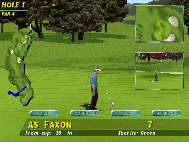 PGA Tour 96 DOS Disappointment - different for each golfer