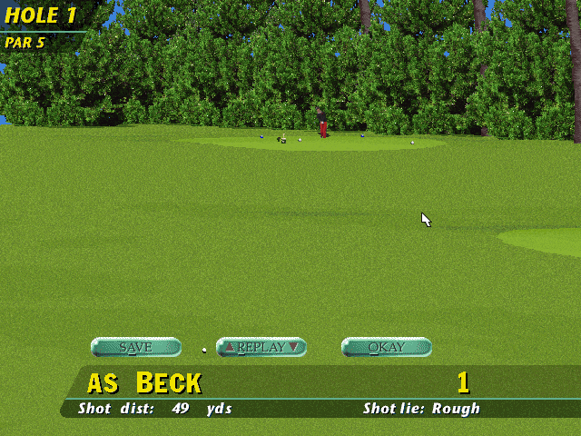 PGA Tour 96 DOS Practice alternative view
