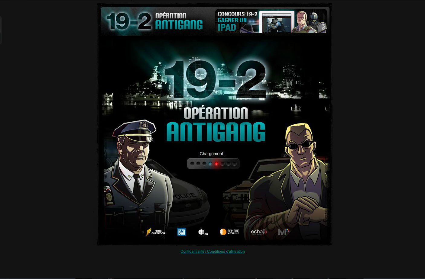 19-2: Opération Antigang Browser Title screen