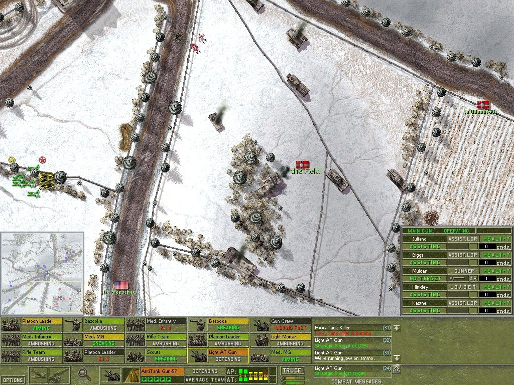 Close Combat: The Battle of the Bulge Windows This shows the humongous JagdTiger (burning!), and many other German tanks & vehicles