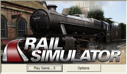 Rail Simulator Windows The games starts with a menu and a 10s timer before launching the main game. During this time you can select some basic game options.