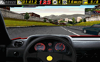 The Need for Speed DOS Time to overtake him (320x200)