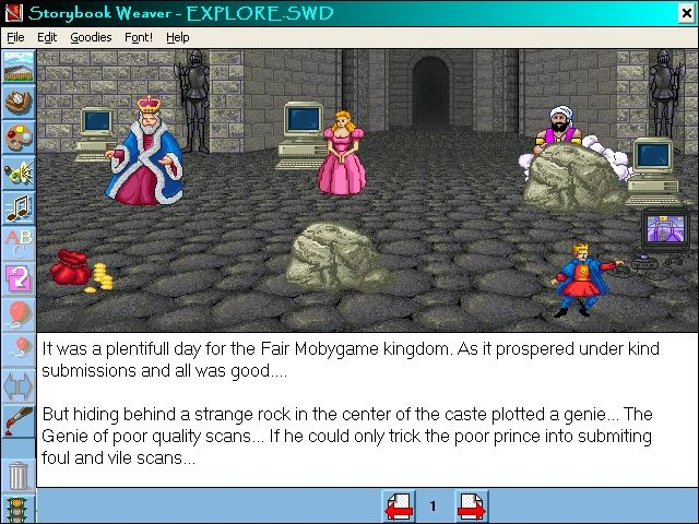 Storybook Weaver: Deluxe Windows 3.x Select characters and add text