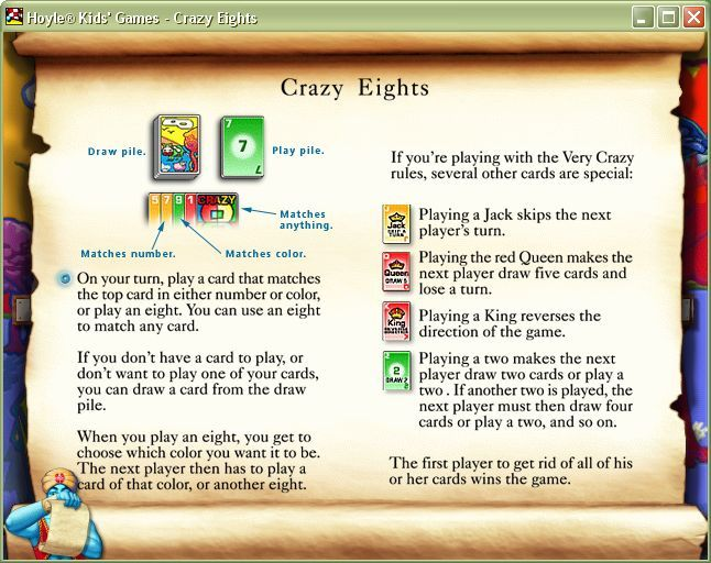 Every Game Has A Set Of Rules These Are Accessed Via The Genies Lamp Which Brings Up Icons Along Bottom Screen