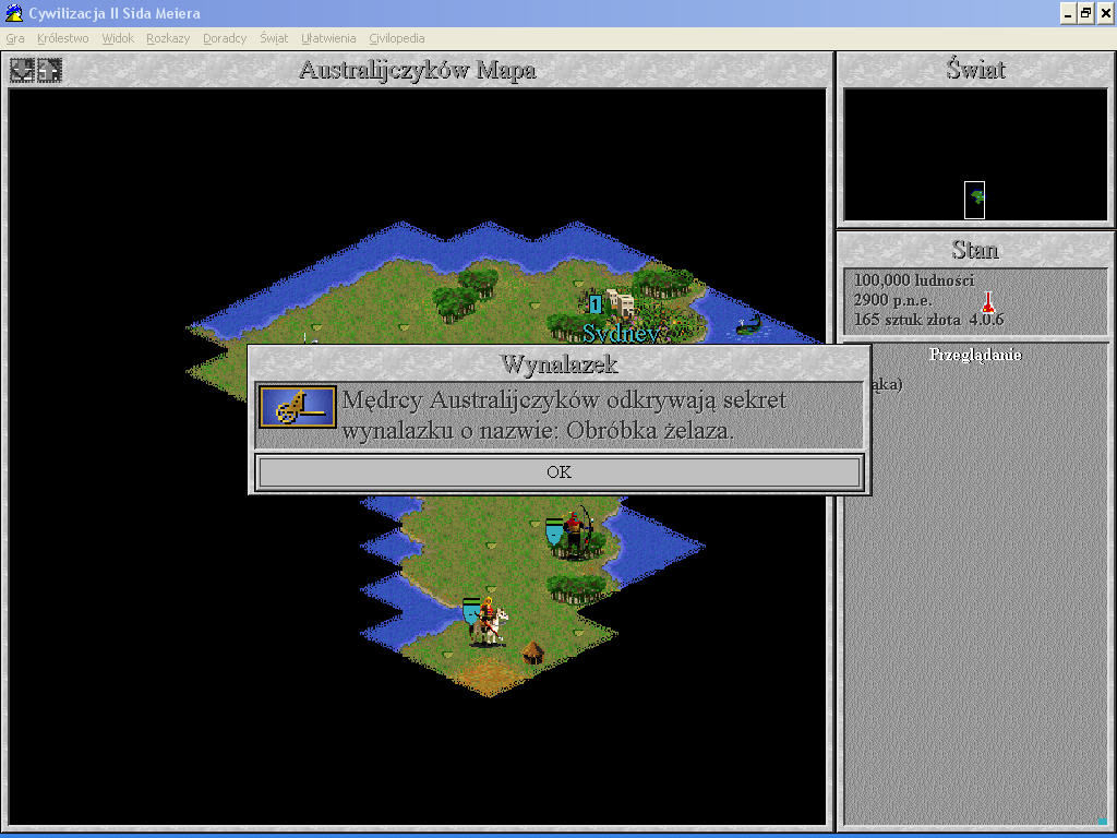 Sid Meier's Civilization II Windows 3.x Iron processing is important