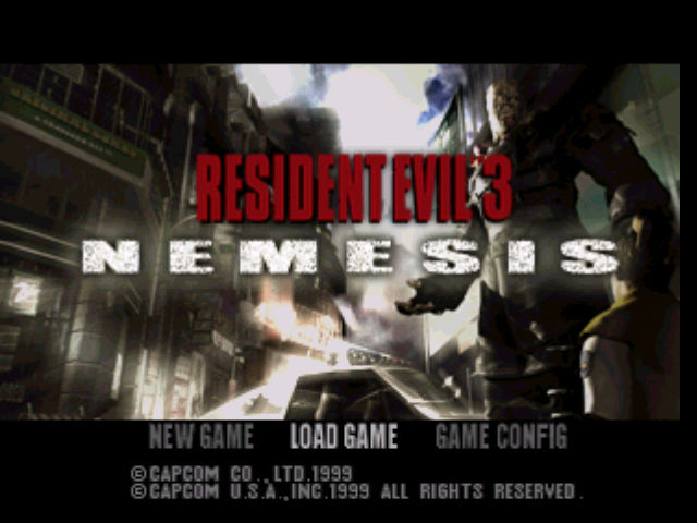 Resident Evil 3: Nemesis PlayStation Title screen
