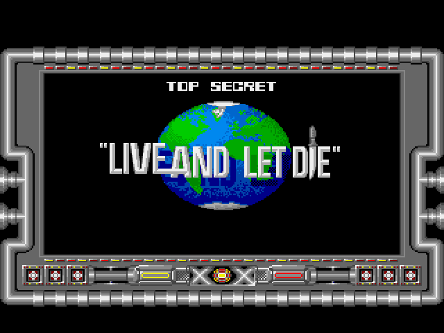 Ian Fleming's James Bond 007 in Live and Let Die: The Computer Game Amiga Title Screen