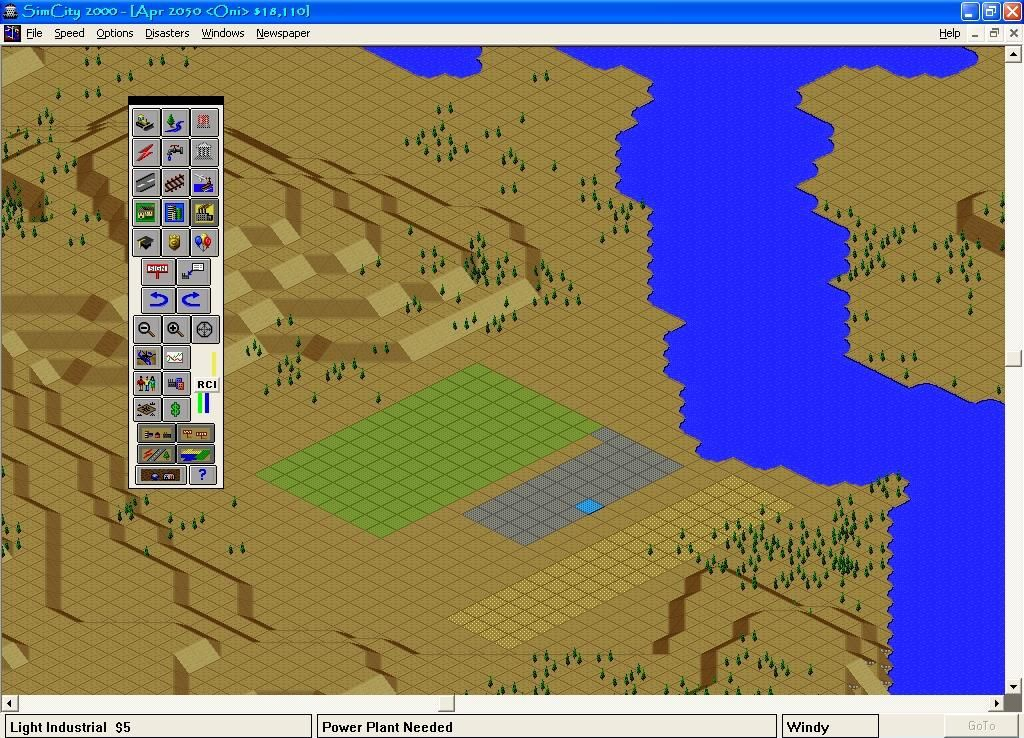 SimCity 2000: CD Collection Windows 3.x Residential, Commercial, Industrial zones.