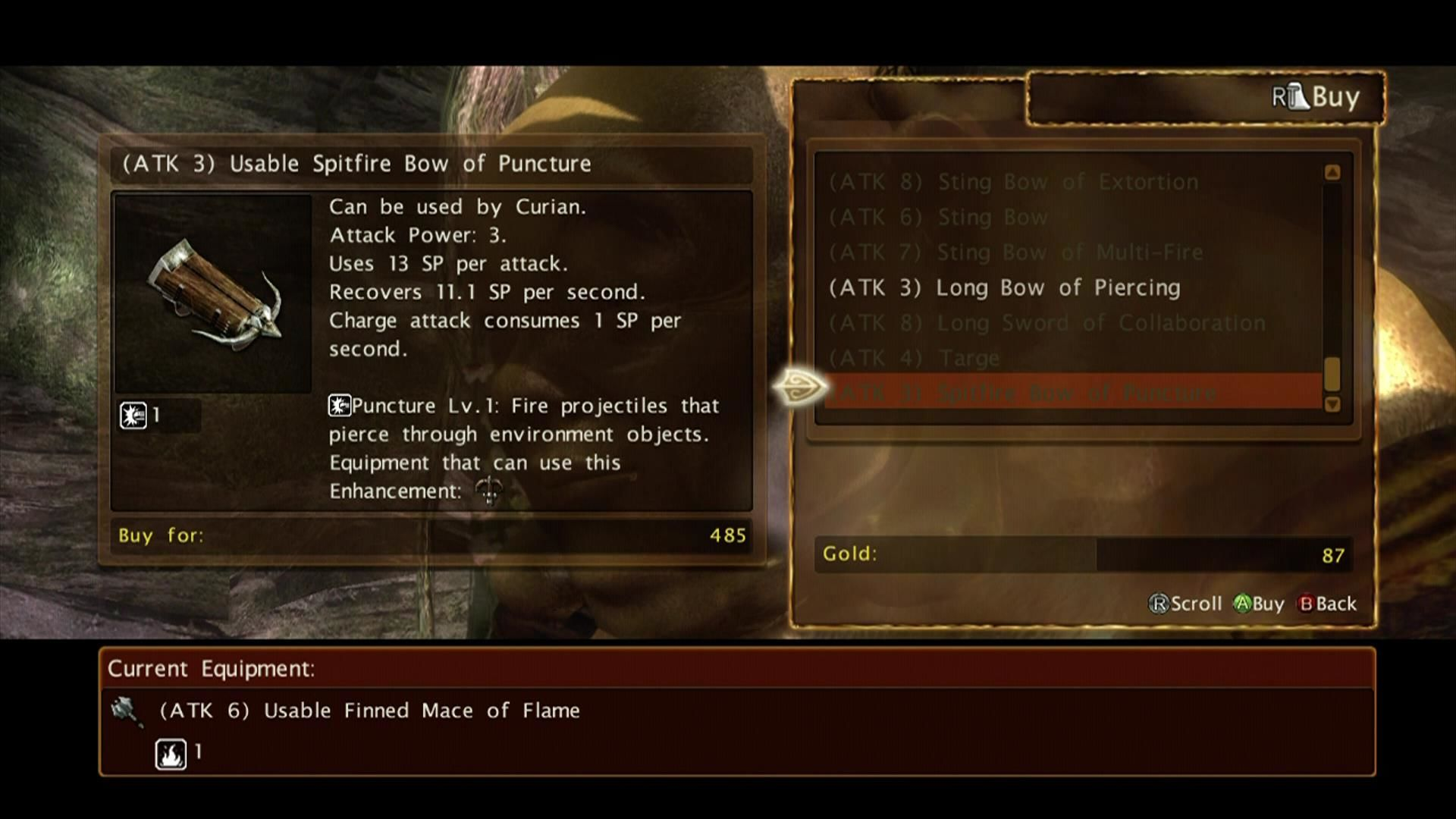 Kingdom Under Fire: Circle of Doom Xbox 360 Store menu