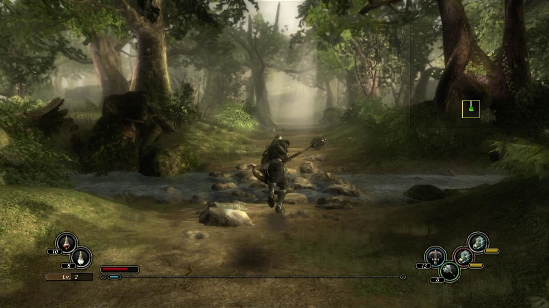 Kingdom Under Fire: Circle of Doom Xbox 360 Second area of the first level, some lush forest