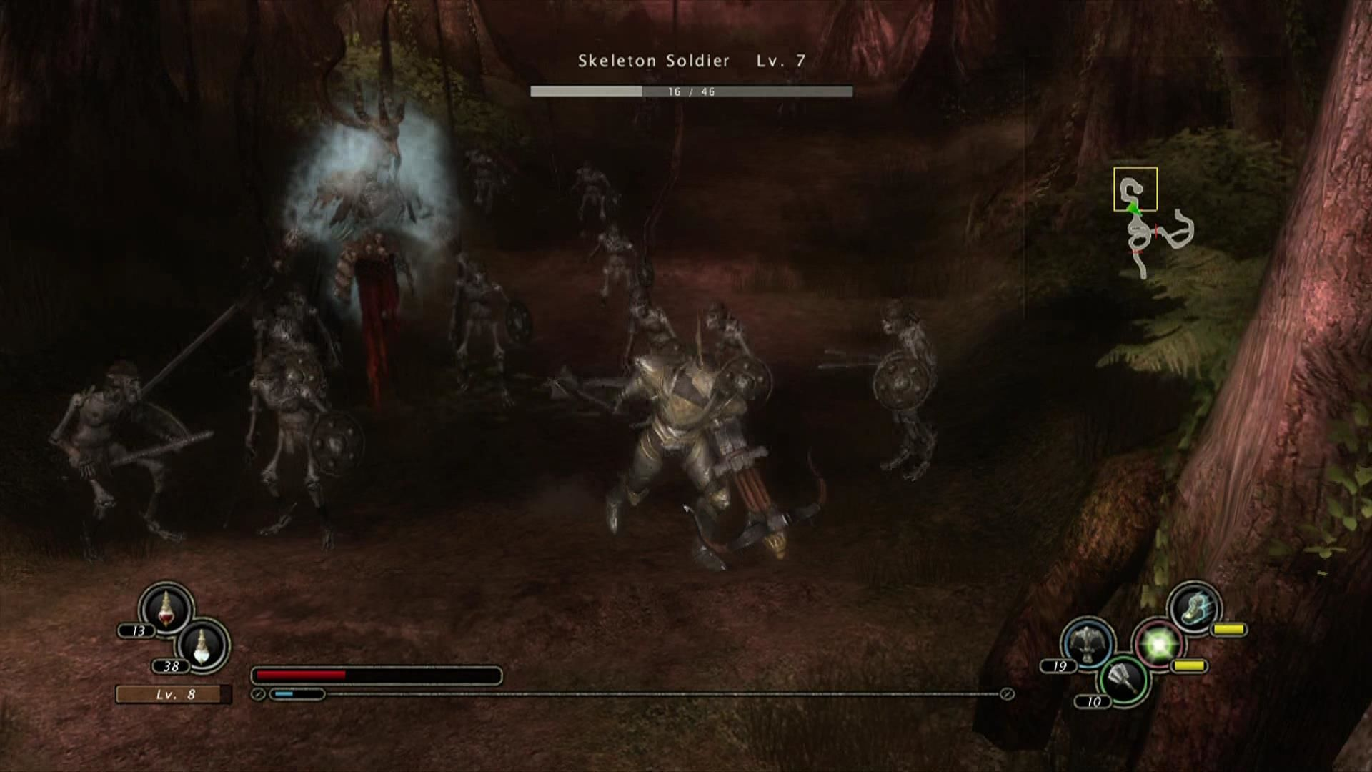 Kingdom Under Fire: Circle of Doom Xbox 360 Every fantasy RPG needs skeleton soldiers.
