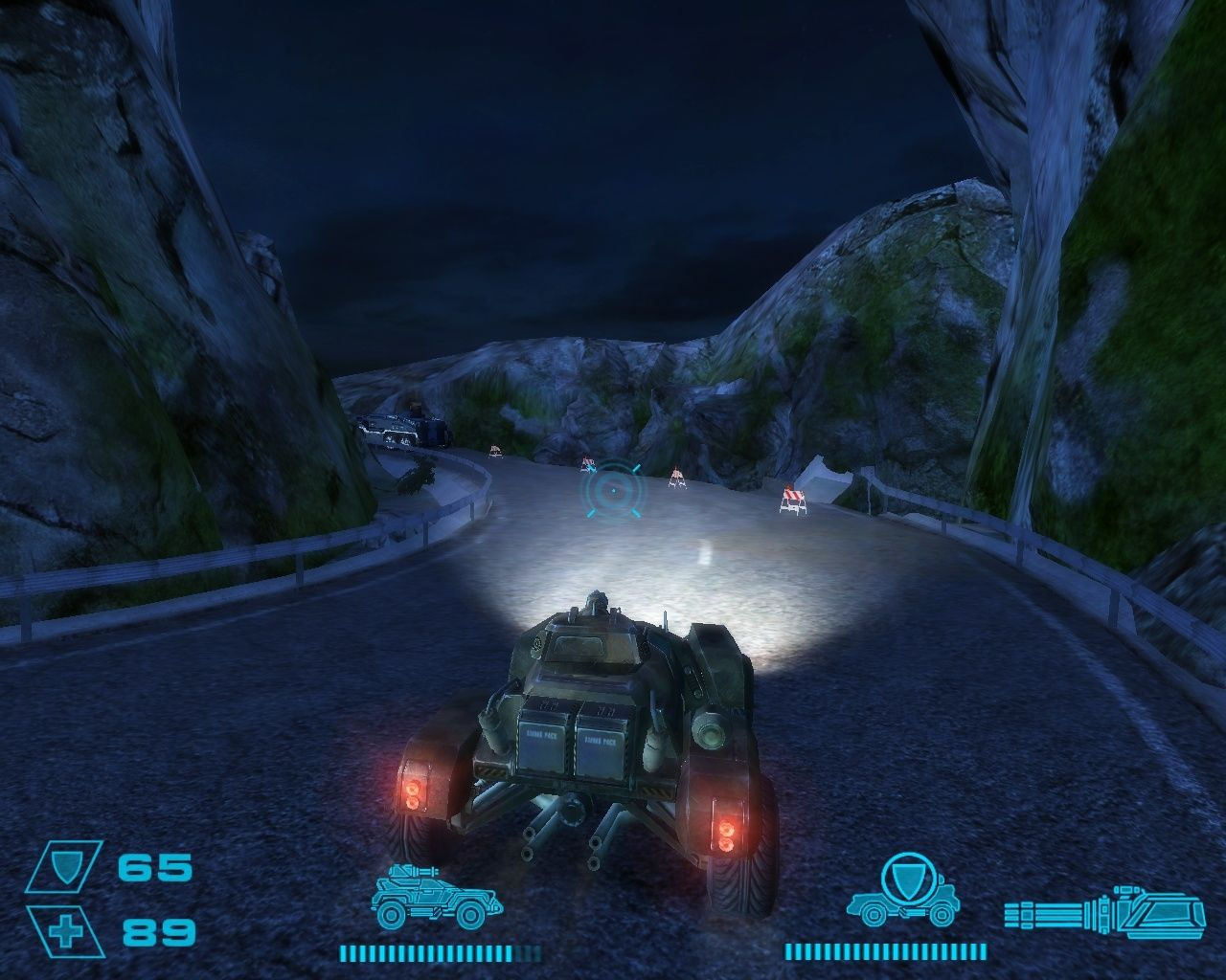 Exodus from the Earth Windows The game features driving sections with an armed vehicle.