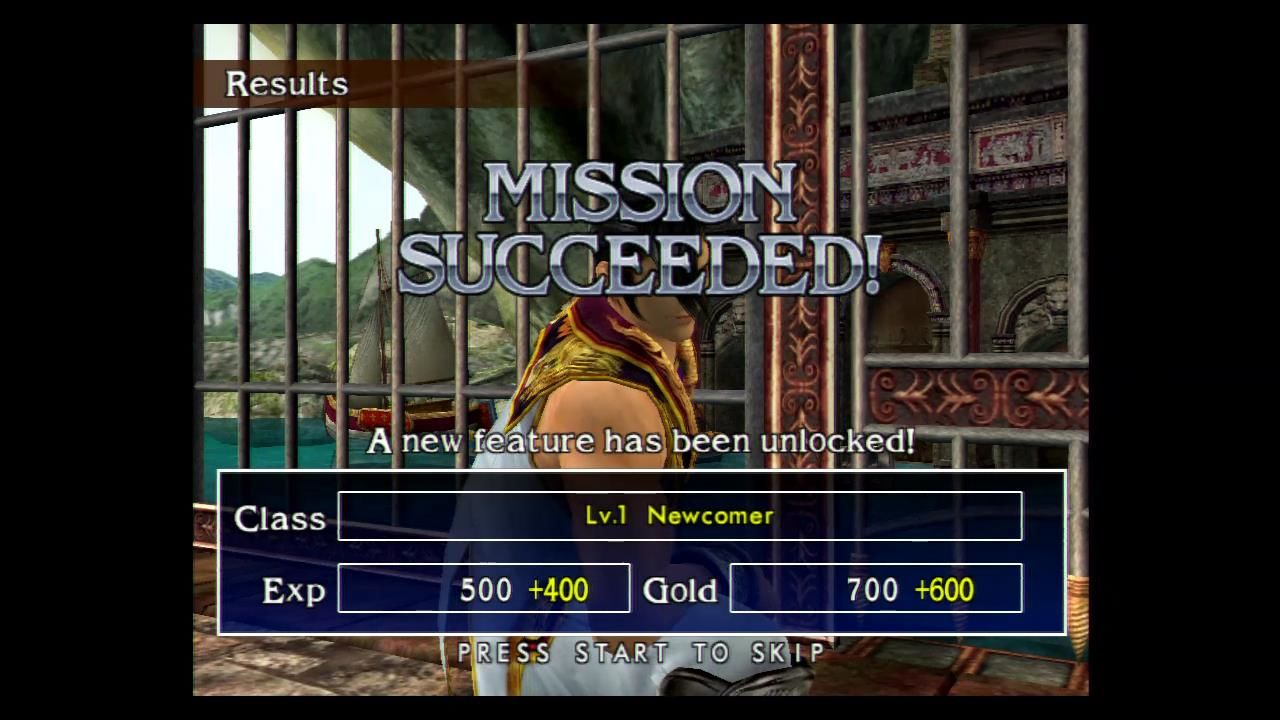 SoulCalibur II Xbox You cleared all objectives in this stage.