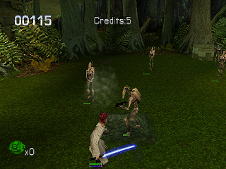 Star Wars: Episode I - Jedi Power Battles PlayStation Fight against trade federation droids