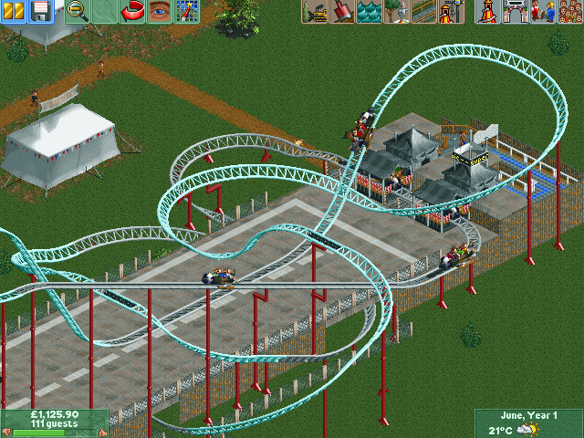 RollerCoaster Tycoon 2: Time Twister Windows Pre made tracks saved with scenery