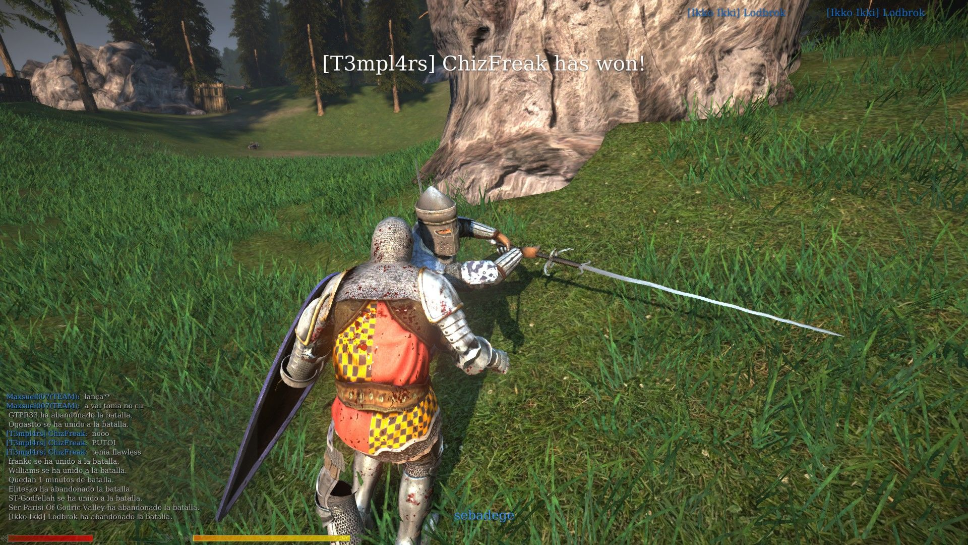 Chivalry: Medieval Warfare Windows Look how long my blade is