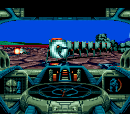 Battlecorps SEGA CD Near the end of the first level you fight some centipede-like guys.