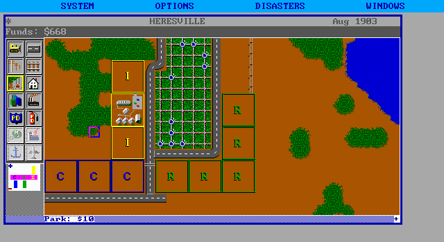 SimCity DOS Big Park