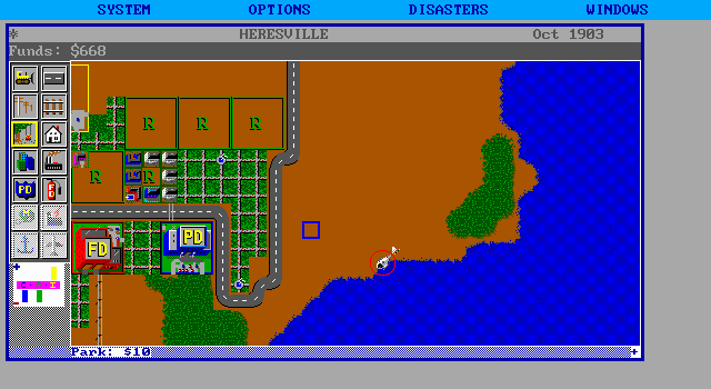 SimCity DOS Helicopter