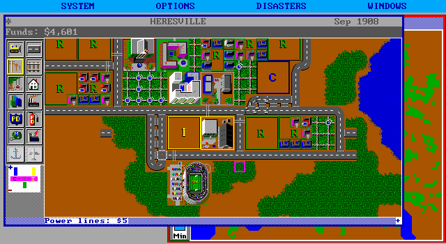 SimCity DOS Stadium