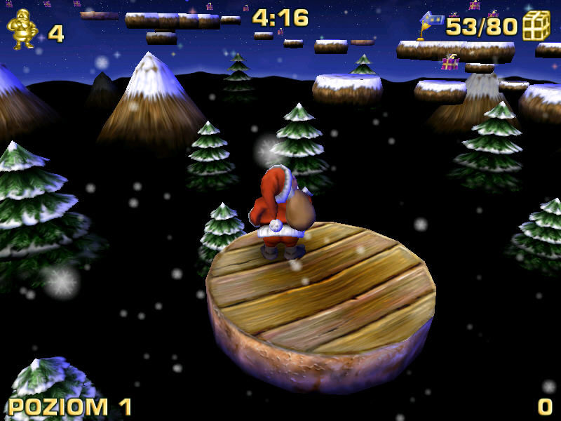 Santa Claus in Trouble Windows Moving platforms