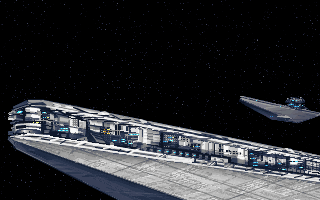 Star Wars: X-Wing DOS Imperial ships from intro