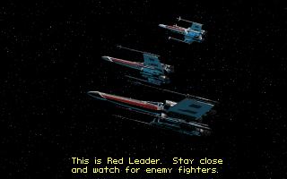 Star Wars: X-Wing DOS Red leader (intro)