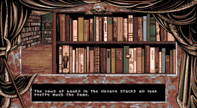 Dark Seed DOS Bookshelf