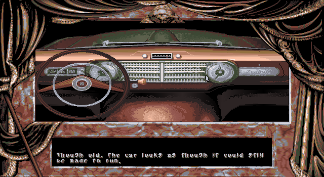 Dark Seed DOS Driving a car