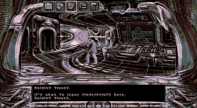 Dark Seed DOS Alien control center