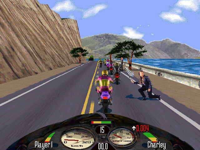 Road Rash Windows Race start