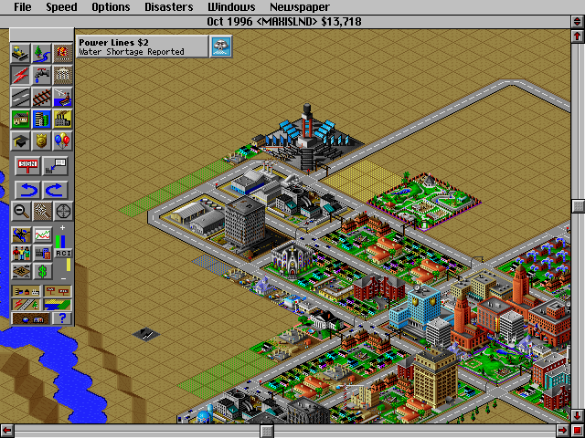 SimCity 2000 DOS Solar energy - ecologic