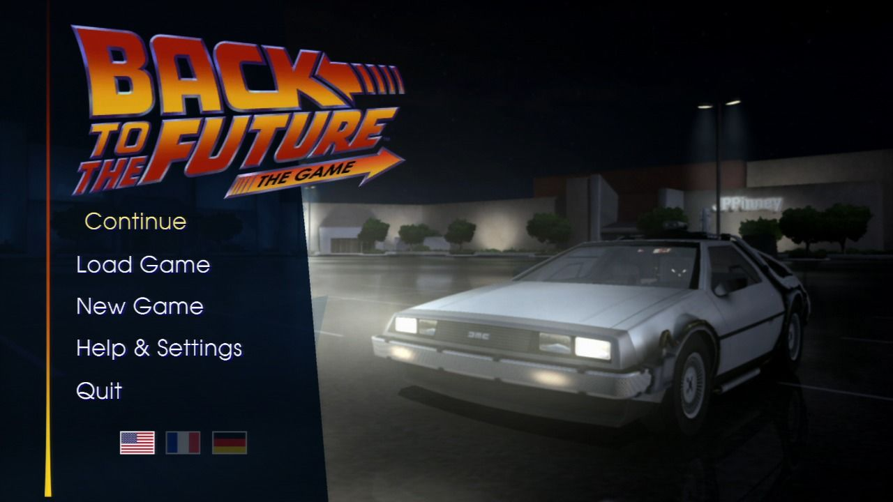 Back to the Future: The Game PlayStation 3 Episode 1 - Main menu, looks the same for every episode