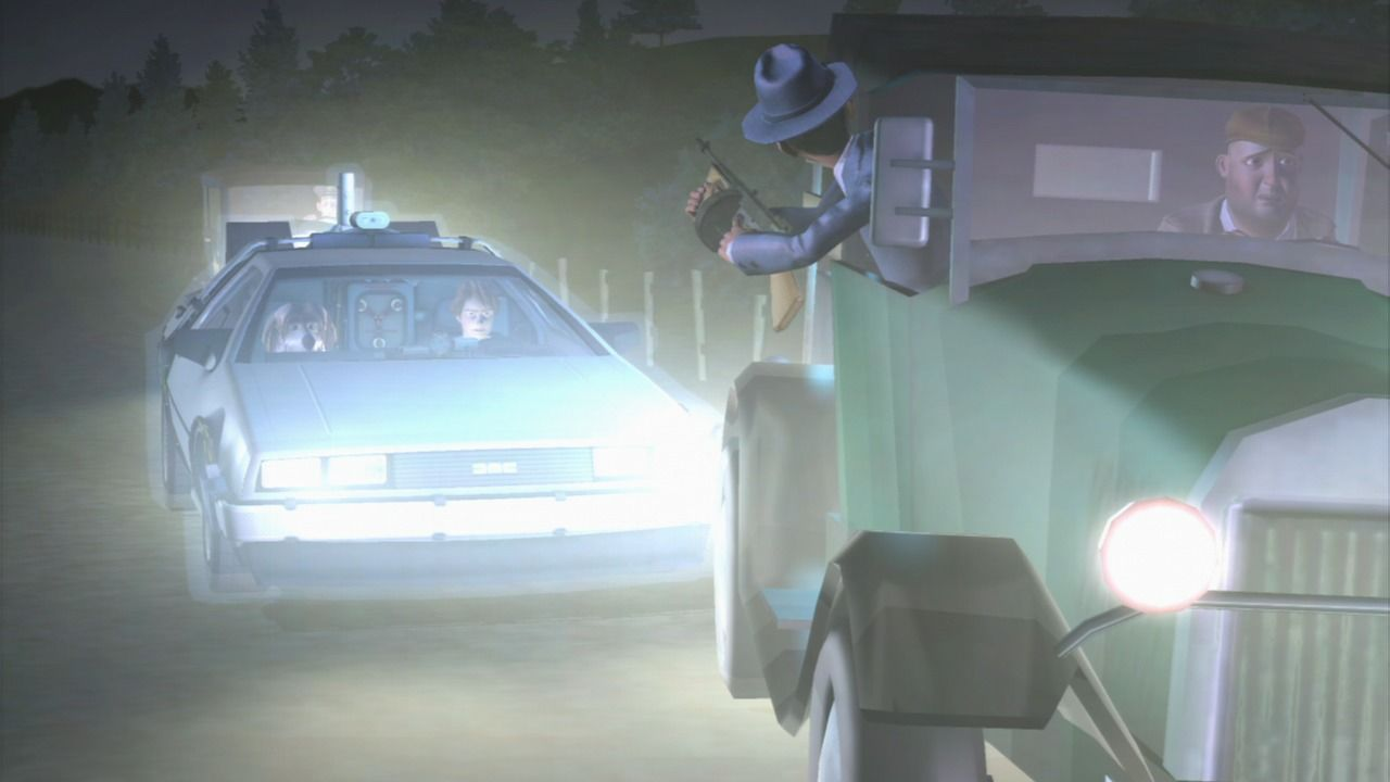 Back to the Future: The Game PlayStation 3 Episode 1 - Appearing in the middle of a police chase.