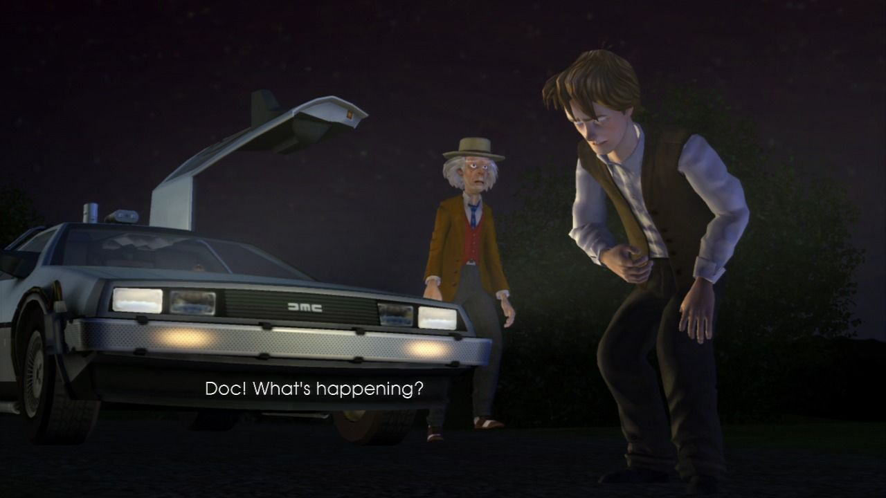 Back to the Future: The Game PlayStation 3 Episode 2 - Marty is disappearing.