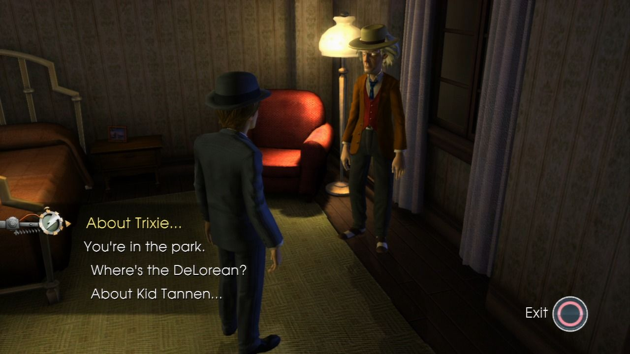 Back to the Future: The Game PlayStation 3 Episode 2 - Real Doc has to lay low as he is a person of interest in this area.