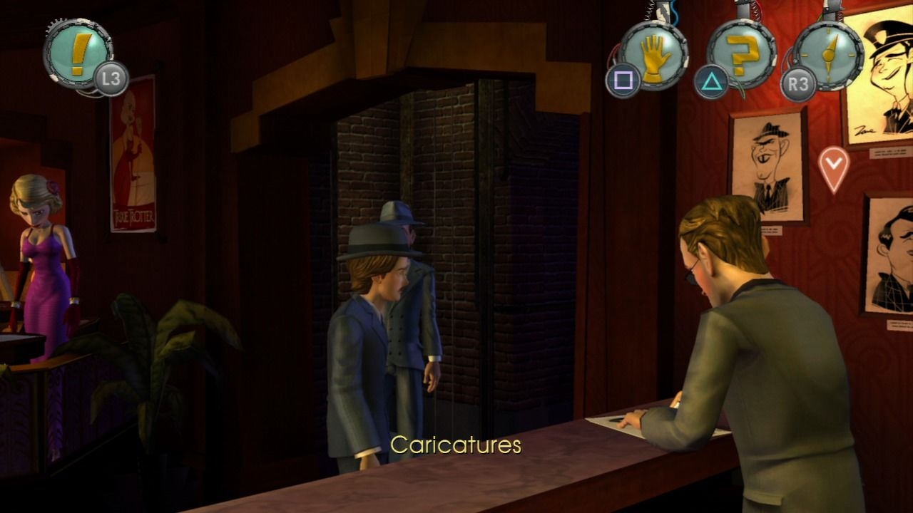 Back to the Future: The Game PlayStation 3 Episode 2 - An illegal gambling den.