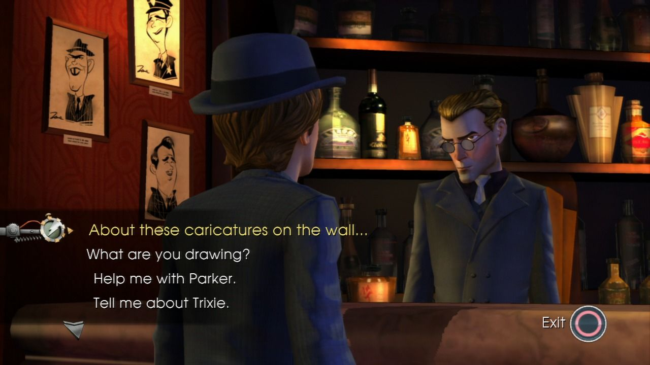 Back to the Future: The Game PlayStation 3 Episode 2 - Inquiring about Tannen's victims.