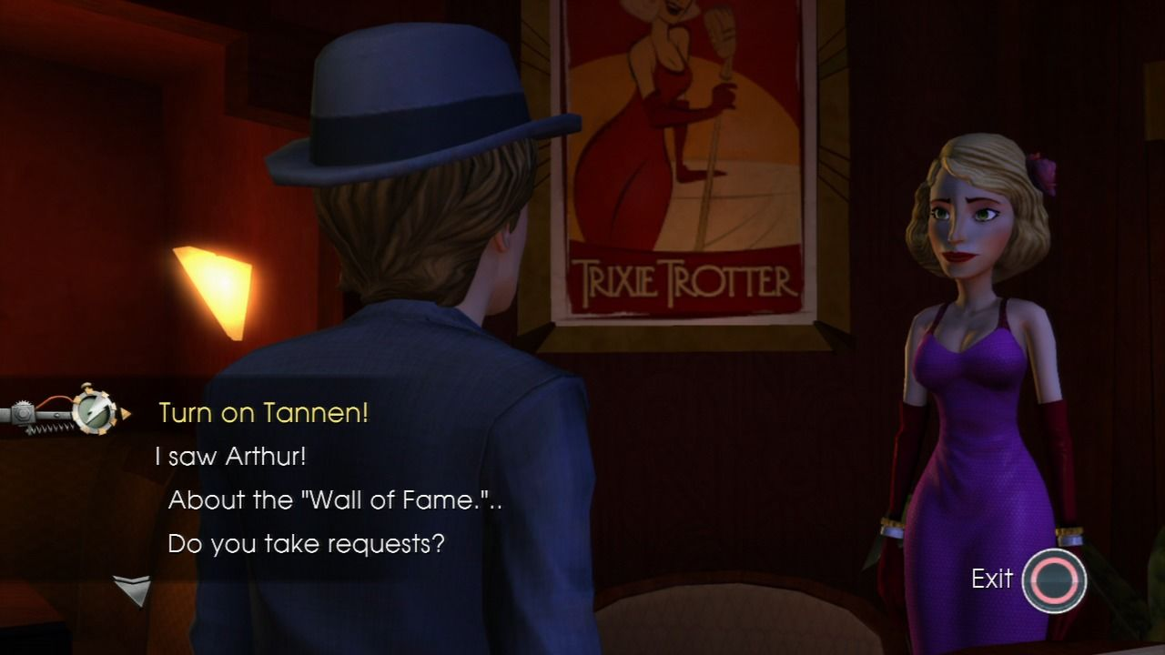 Back to the Future: The Game PlayStation 3 Episode 2 - Trying to convince Trixie to turn on Kid Tannen.