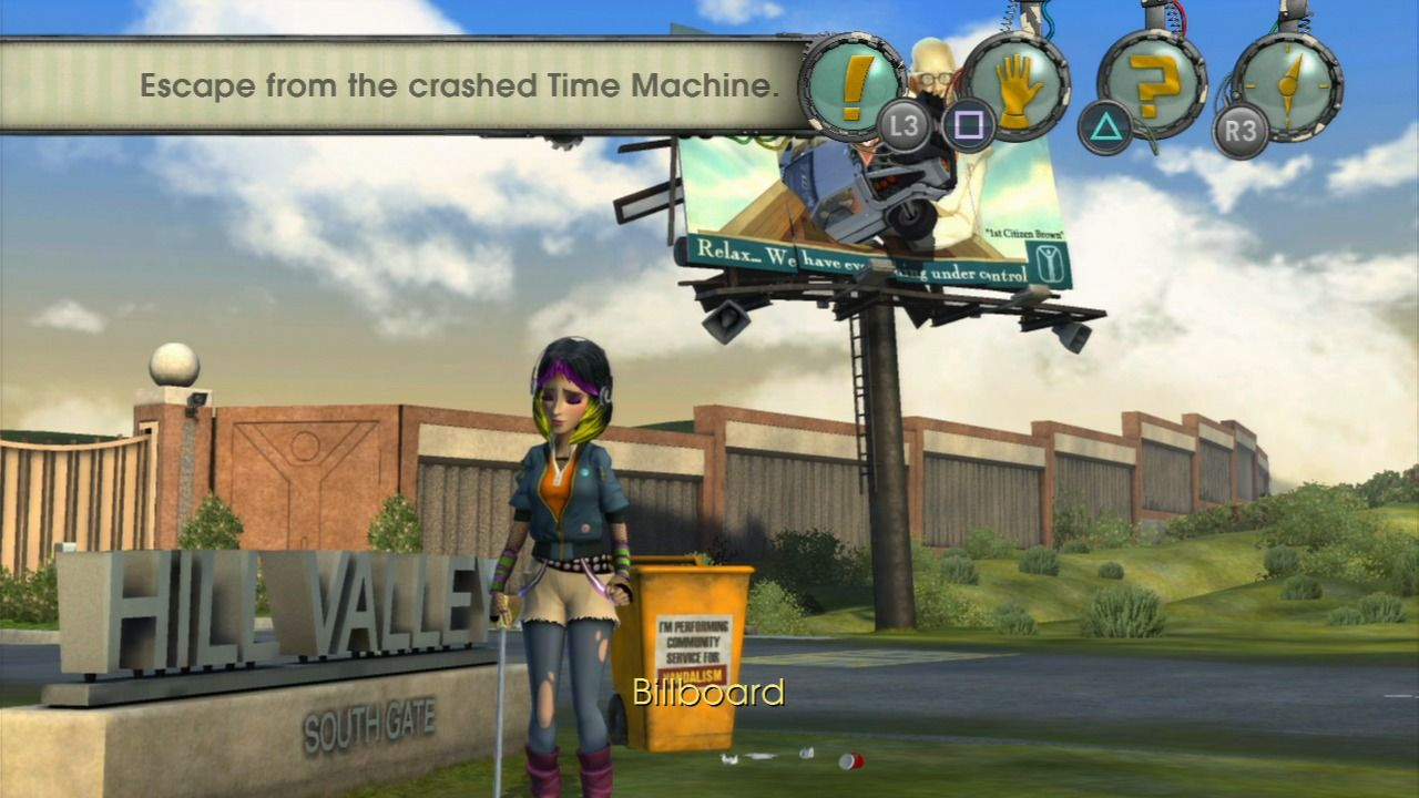 Back to the Future: The Game PlayStation 3 Episode 3 - That's called the bad landing.