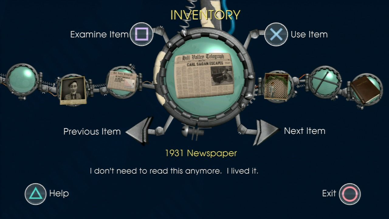 Back to the Future: The Game PlayStation 3 Episode 3 - Newspapers will change as you change the past.
