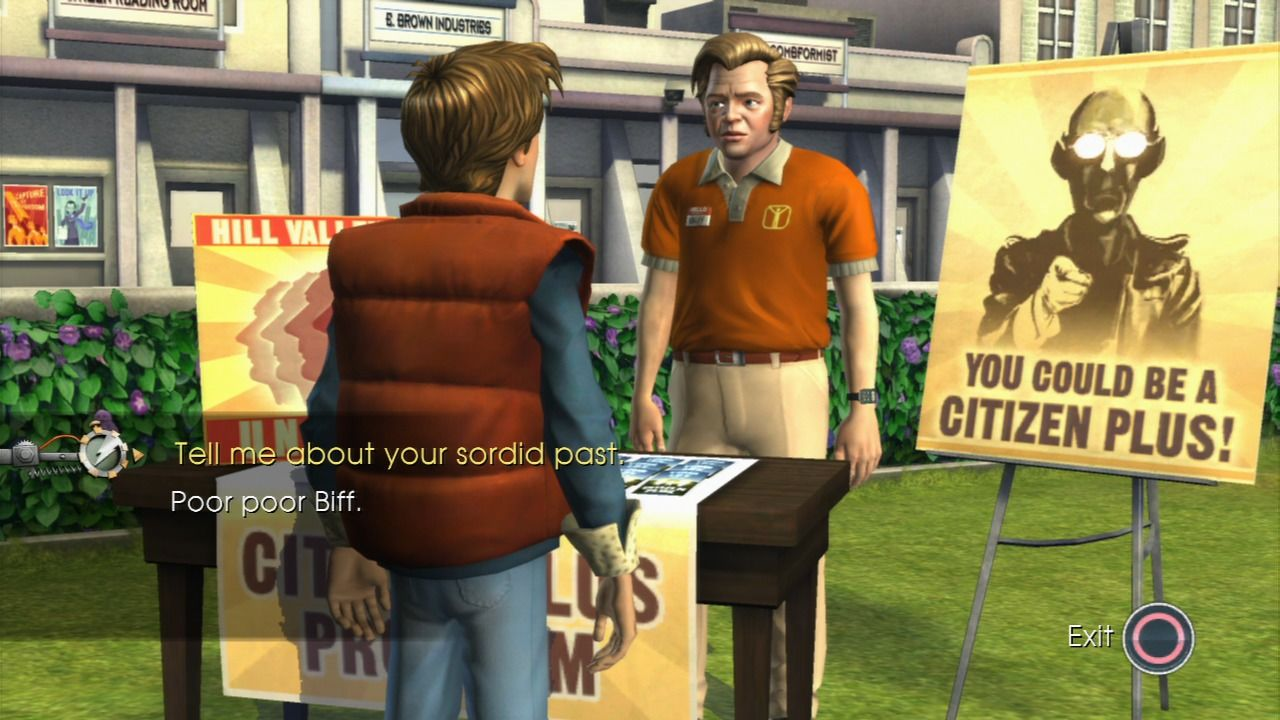 Back to the Future: The Game PlayStation 3 Episode 3 - Even Biff behaves in this new system.
