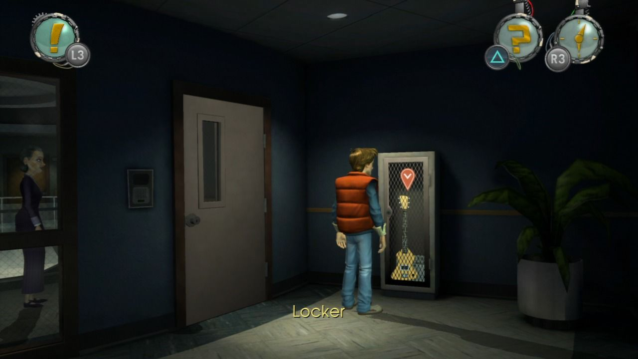 Back to the Future: The Game PlayStation 3 Episode 4 - Need to find the combination to this locker.